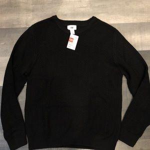 H&M Black knit sweater COZY